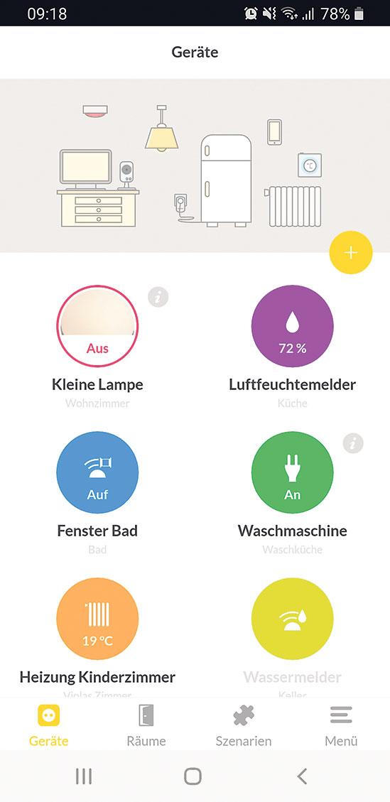 Benutzeroberfläche Mieter-App
