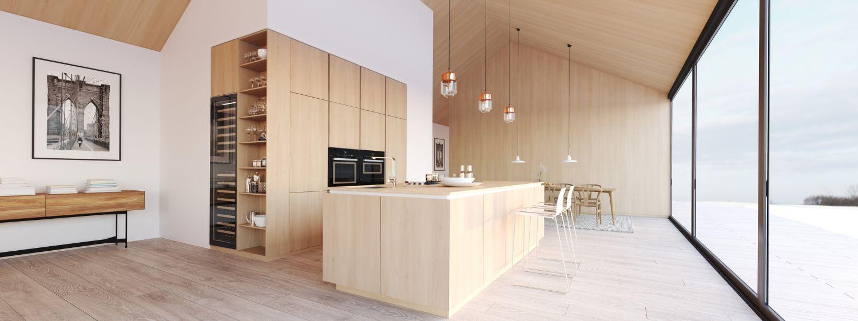 Modernes Loft mit offener Küche