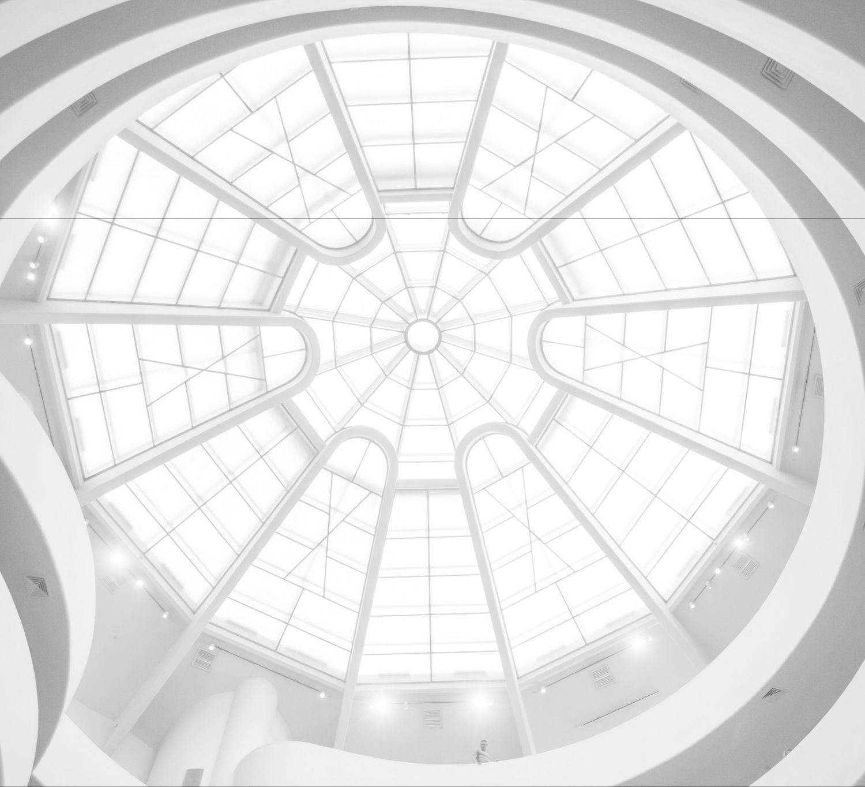 Innnenansicht vom Glasdach eines Gebäudes; Thema: Energie- und Wärmetechnik