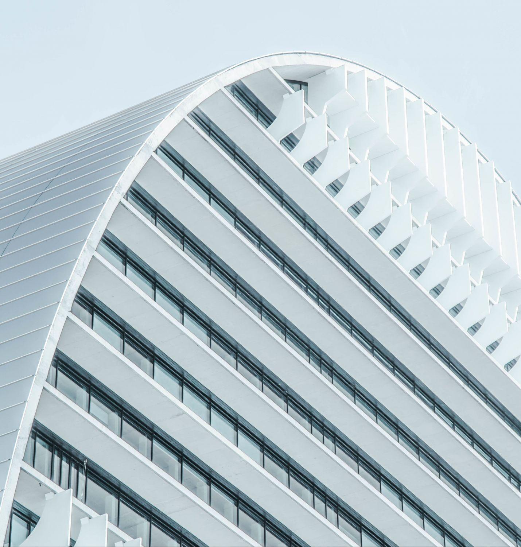 Detailansicht von modernem Bürogebäude; Thema: Was ist BIM?